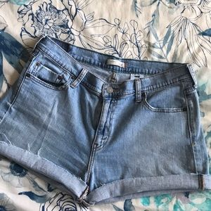 Levis 515 cut off denim shorts